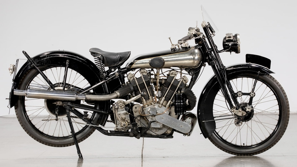 Brough Superior SS100 Bert le Vack motorcycle in honor of Bert le Vack records