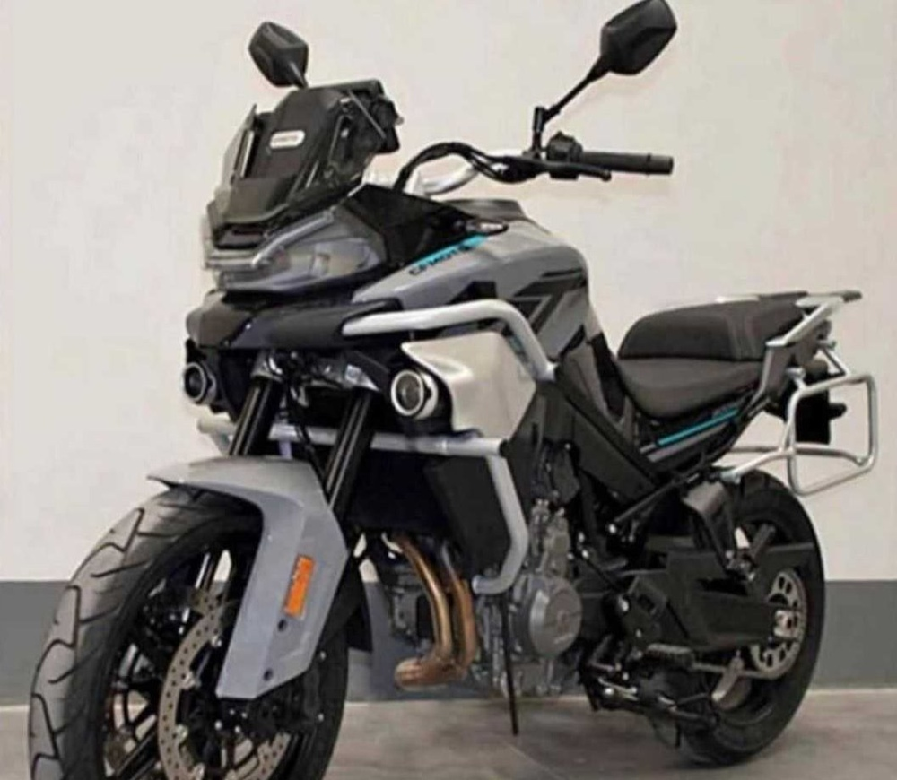 The first photos of the production version of the CFMoto MT800 tourenduro