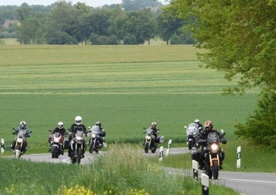 German motorcyclists protest speed limits and motorcycle-only bans